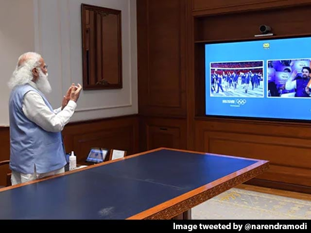 """Video : """"Let Us Cheer For India...,"""" Urges PM Modi Amid Tokyo Olympics"""