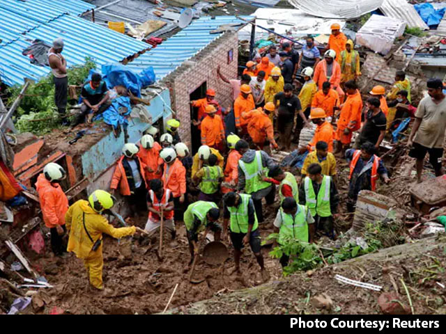 Video : 20 Killed As Heavy Rains Cause Landslide In Mumbai, Several Feared Trapped