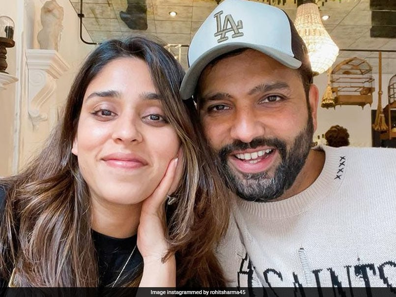 """Rohit Sharma Posts Pic With """"My Constant"""" Ritika Sajdeh"""
