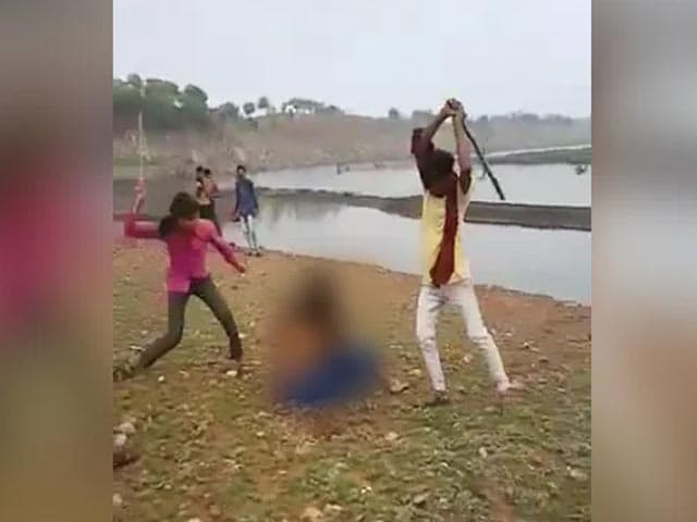 Video : Madhya Pradesh Women Thrashed, Beaten With Sticks By Family. No One Helps