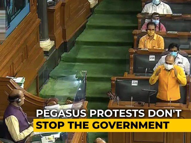 Video : Lok Sabha Proceedings Adjourned For The Day; 2 Bills Passed Amid Din