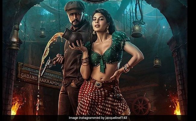 First Look: Jacqueline Fernandez Is Kiccha Sudeep's Feisty Plus-One In Vikrant Rona Poster