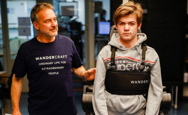 Man Builds Exoskeleton To Help His Wheelchair-Bound Son Walk