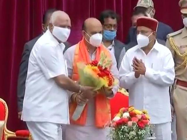 Video : Yediyurappa Loyalist Basavaraj Bommai Sworn In As New Karnataka Chief Minister