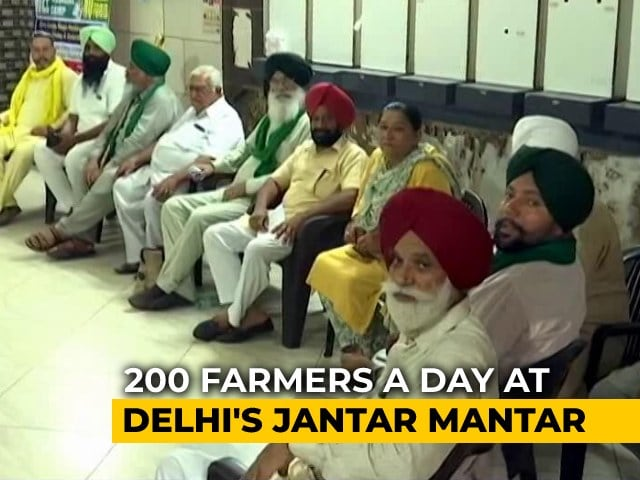 Video : Farmers' Protest At Jantar Mantar Gets Delhi Government Nod: Sources