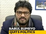 Video : Babul Supriyo, Replaced As Union Minister Recently, Says Quitting Politics