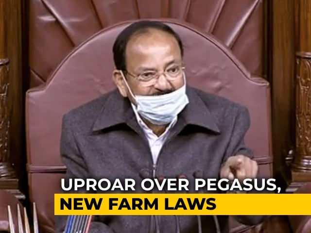 Video : Rajya Sabha Chairman Shreds MPs For Whistling In House, Warns Of Action