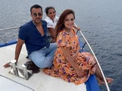 """Pregnant Dia Mirza's Throwback To """"Magical"""" Maldives Vacation With Husband Vaibhav Rekhi And His Daughter Samaira"""