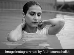 Fatima Sana Shaikh Is Actually Making A T-Shirt And Hoops Perfect Pool Day Attire