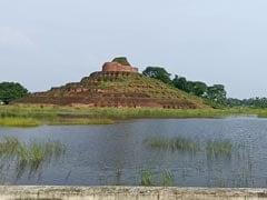 Heavy Waterlogging Around World Famous Buddhist Stupa In Bihar