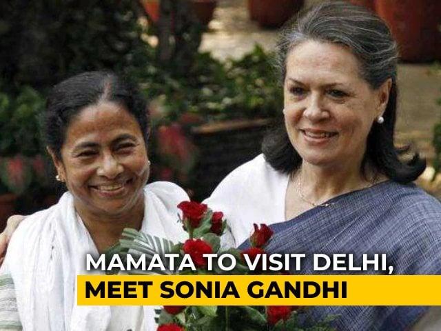 "Video : Mamata Banerjee Plans Trip To Meet Sonia Gandhi, ""May Meet PM If..."""