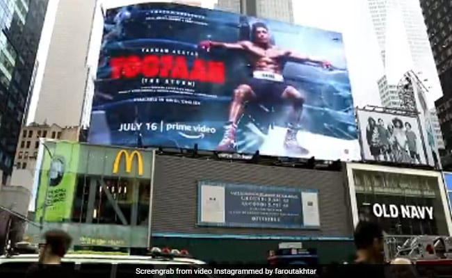 Toofan On Times Square Billboards, A 'Dream Come True' Moment For Farhan Akhtar