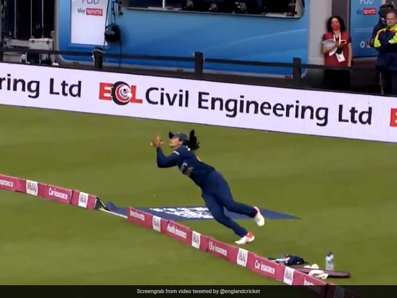 """Women of England vs. Women of India: Harleen Deol takes on """"the best catch you'll ever see"""".  Viral Video 