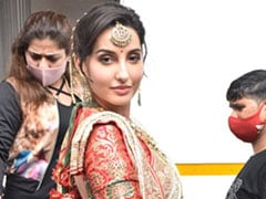 We're Sure Even Madhuri Dixit Took A Double Take After Seeing Nora Fatehi In Her Iconic Ethnic Outfit