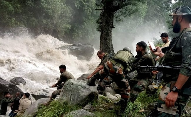 Search Continues To Find Survivors After Cloudburst In J&K Village