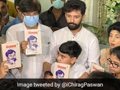 """""""I'm Lion's Son"""": Chirag Paswan Breaks Down Launching Father's Book"""