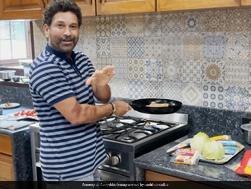Watch: From Master Blaster To Master Chef. Guess What Sachin Tendulkars Cooking?