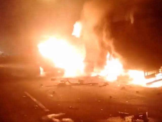 Video : 1 Dead, 2 Rescued After 3 Trucks Collide In Gujarat