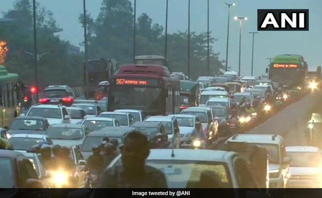 Waterlogging, Traffic Snarls In Some Parts Of Delhi After Rain