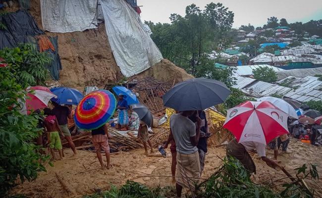 Bangladesh Evacuates 10,000 Rohingya After Landslides, Floods