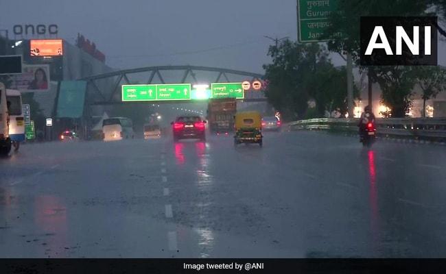 Heavy Rain In Parts Of Delhi, Haryana; Weather Department Predicts More Rainfall