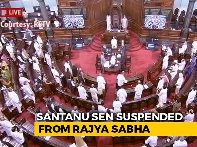 Video : Trinamool MP Suspended From Parliament For Snatching IT Minister's Papers