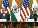 Video : India-US Shared Democratic Values Were Part Of Talks, Says US's Antony Blinken