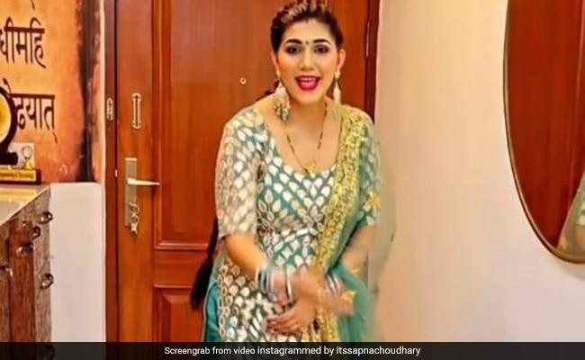 Sapna Choudhary ने देसी अंदाज में 'बांगरो' सॉन्ग पर किया जोरदार डांस, Video हुआ वायरल