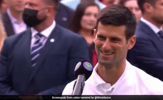 Video-विंबलडन फाइनल में पहुंचने के बाद जोकोविक ने प्रजेंटर के सवाल का दिया ऐसा जवाब, जीत लेगा आपका दिल