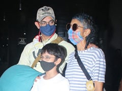 Aamir Khan, Kiran Rao And Son Azad Fly Home From <I>Laal Singh Chaddha</i> Shoot. See Pics