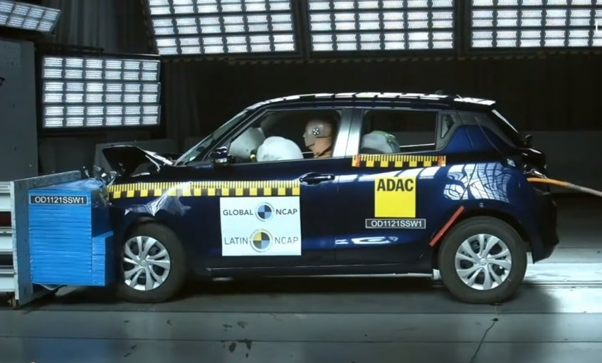 The Suzuki Swift achieved 15.53% for Adult Occupant protection, 0% for Child Occupant protection