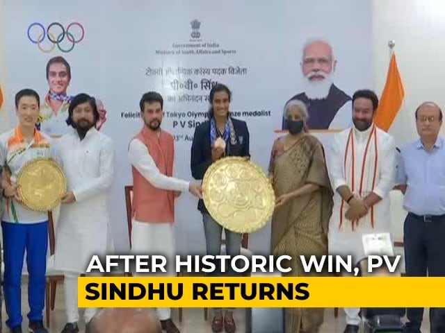Video : Double Olympic Medallist PV Sindhu Returns Home To Grand Welcome