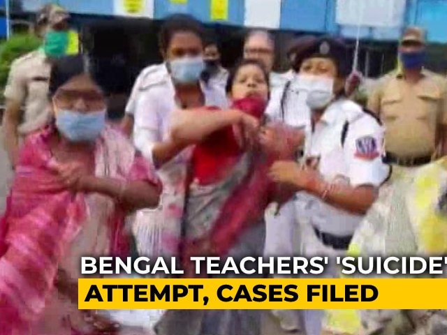 Video : Bengal Teachers Allegedly Drink Poison In Protest, Trinamool Blames BJP