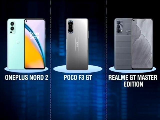 Video : Realme GT Master Edition vs OnePlus Nord 2 vs Poco F3 GT