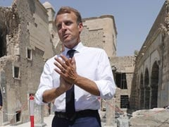France's Emmanuel Macron Visits ISIS Former Stronghold In Iraq's Mosul
