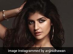 Anjini Dhawan Is Making Rocker Chic Headlines In A Sleek Black Leather Jacket And Crop Top