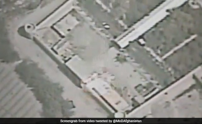 Watch: The Airstrike That Destroyed Taliban Hideouts In Afghanistan
