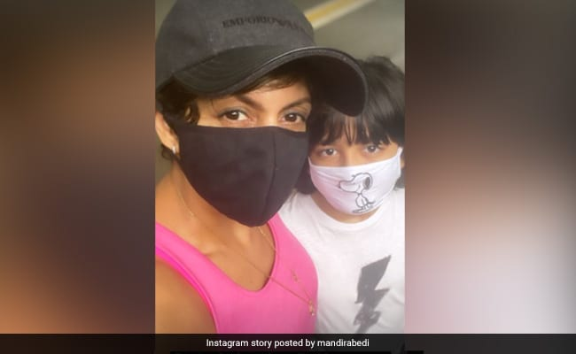 Mandira Bedi Began Her Day With Her 'Partner In Crime' Vir