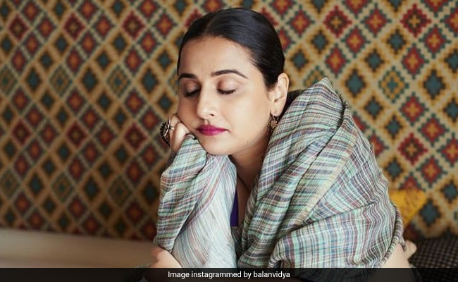 Vidya Balan Was 'Done Shooting' But Her Team Wasn't. So, She Did This