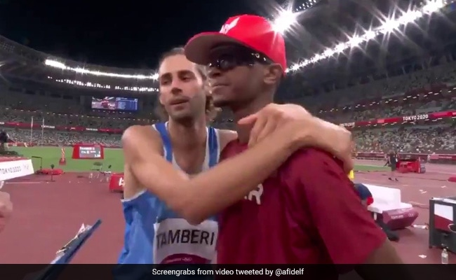 Watch: The Iconic Moment Two Friends Agreed To Share Olympic Gold