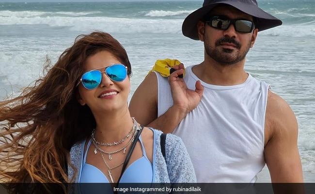 Rubina Dilaik And Abhinav Shukla's Day At The Beach