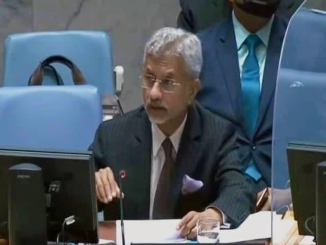 """Video : """"Lashkar, Jaish Still Operate With Impunity"""": S Jaishankar At UN Briefing"""