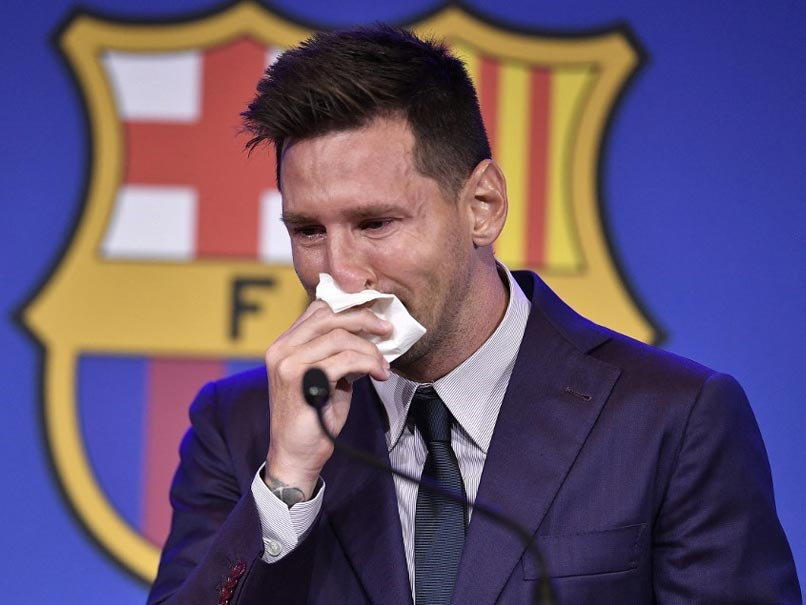 """""""Never Imagined"""": Tearful Lionel Messi Confirms Barcelona Exit"""