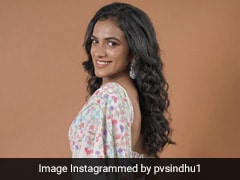 We Aren't Just Fans Of PV Sindhu In A Team Jersey But In Floral Manish Malhotra <i>Sarees</i> Too