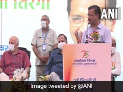 Arvind Kejriwal Inaugurates Five Flag Masts On 75th Independence Day