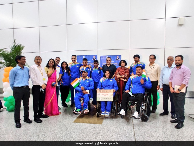 First Batch Of Indian Athletes Leaves For Tokyo Paralympics Amid Warm Send-Off. See Pics