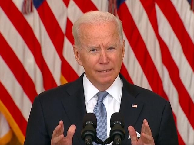"""Video : Afghan Mission Was """"Never About Nation-Building"""", Says Biden"""