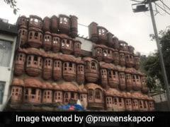 Delhi Building's Hawa Mahal-Like Facade Being Demolished On Civic Body's Order