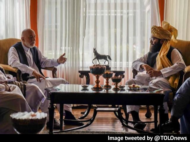Video : Taliban Meet Ex Afghan President Hamid Karzai In Talks To Form Government