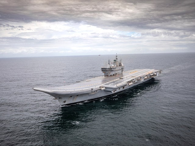 In Pics: Made-In-India Aircraft Carrier Vikrant Embarks On Trial Sail
